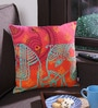 Bombay Dyeing Pink Cotton 16 x 16 Inch Clourof India Printed Ethnic Cushion Cover