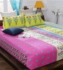 Pink Cotton Queen Size Bedsheet - Set of 3 by Bombay Dyeing