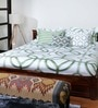 Reverie Green Cotton Solid Double Bed Sheet (with Pillow Covers) by Bombay Dyeing