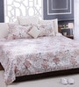 White 100% Cotton Queen Size Bed Sheet - Set of 3 by Bombay Dyeing
