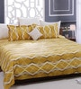 Yellow 100% Cotton Queen Size Bed Sheet - Set of 3 by Bombay Dyeing
