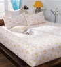 Bombay Dyeing Yellow Cotton Queen Size Bedsheet - Set of 3