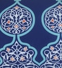 Blue & White Matt Satin 12 x 32 Inch Mughal Style Print Cushion Cover by Bombay Mill