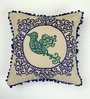 Multicolour Cotton 16 x 16 Inch Bird Embroidery Cushion Cover by Bombay Mill