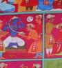 Bombay Mill Multicolour Matt Satin 16 x 16 Inch Mughal Lifestyle Print Cushion Cover