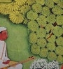Multicolour Matt Satin 16 x 16 Inch Mughal Style Print Cushion Cover by Bombay Mill