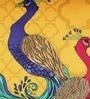 Bombay Mill Multicolour Matt Satin 16 x 16 Inch Peacock Print Cushion Cover