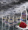 Borgonovo Glass Water Glasses & Bottle - Set Of 7