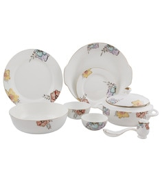 ngr floriana with crystals fine bone china dinner set set of 36