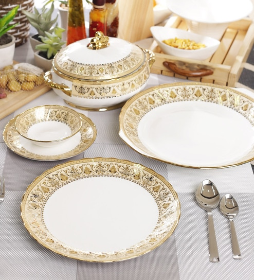 Bone China Dinner Set   Set Of 21 By BP Bharat
