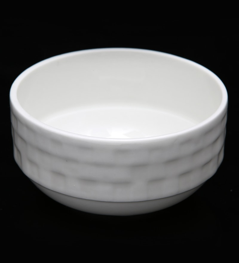 Bp Bharat Checker Fine Bone China Soup Bowl - Set of 12