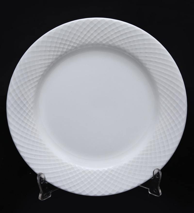 Bp Bharat Diamond Fine Bone China Plate - Set of 12