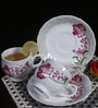 Bp Bharat Csk Carnation Fine Bone China 150 ML Cup & Saucer - Set of 6