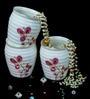 BP Bharat Kusum with Crystals Fine Bone China 200 ML Kulhad - Set of 6