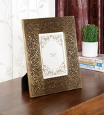 Brown Solid Wood 9 x 1 x 11 Inch Designer Photo Frame