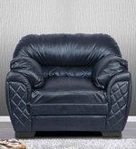 Brayden One Seater Sofa in Black Leatherette