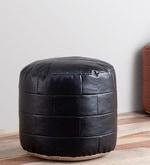 Bricks Pouffe in Black Colour
