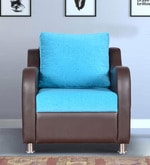 Brisa One Seater Sofa in Coffee & Blue Colour