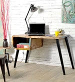 Omarion Study & Laptop Table in Multi-Color Distress Finish