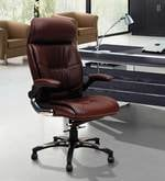 Executive Chair in Brown Leatherette