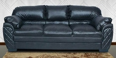 Brayden Three Seater Sofa in Black Leatherette