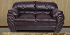 Brayden Two Seater Sofa in Dark Brown Leatherette