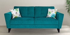 Bristol Three Seater Sofa in Turquoise Colour