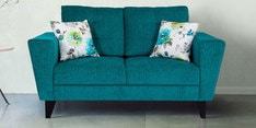 Bristol Two Seater Sofa in Turquoise Colour