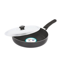 Bright Home Appliances Household Aluminum Fry Pan With Lid - 1424977