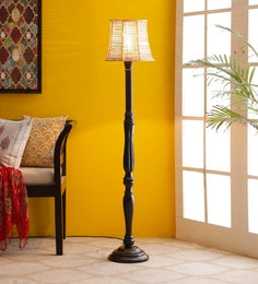 Brown Bamboo Floor Lamp