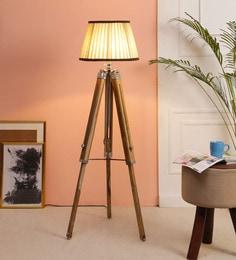 Brown Fabric Floor Tripod Lamp - 1693688