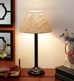 Brown Jute Table Lamp - 1612201