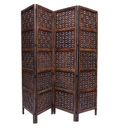 Brown Mango Wood Hand Crafted Partition Screen