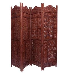 Brown Sheesham Wood Hand Crafted Partition Screen - 1538638