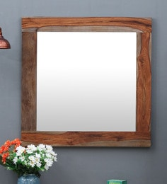 Brown Sheesham Wood Mirror