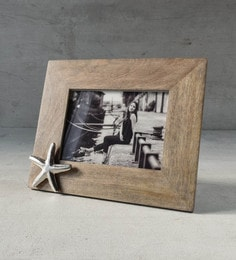 a95ba5442fd5 Brown Wood with Metal Inserts 10.6 x 0.5 x 8.7 Inch Burgess Photo Frame