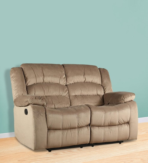 Bradford Two Seater Recliner In Camel Colour By HomeTown