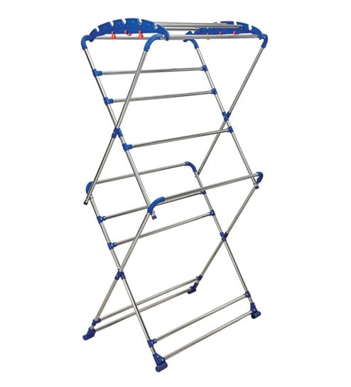 Brancley Stainless Steel Blue Clothes Drying Stand