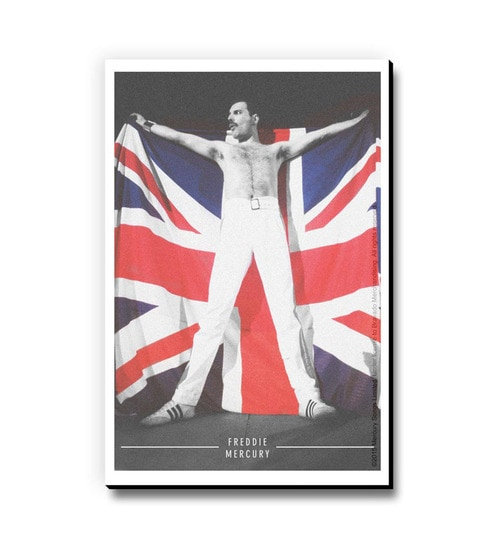 Buy Bravado Multicolour Fibre Board Freddie Mercury Uk Flag Fridge ...