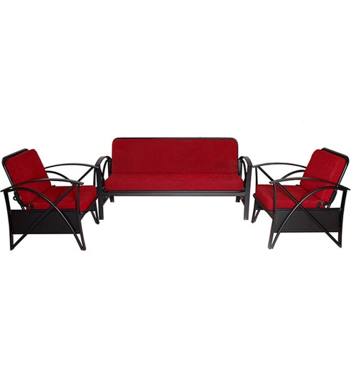 Awesome Bright Red Sofa Set 1 Double Seater Sofa 2 Single Seater Sofas Download Free Architecture Designs Scobabritishbridgeorg