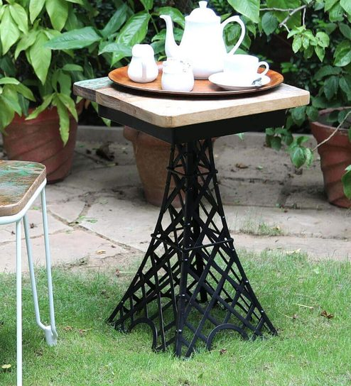 Buy Brisco End Table in Distress Finish by Bohemiana Online ...