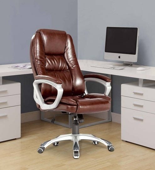 Buy Bristol Executive Chair In Brown Colour By Royal Oak Online