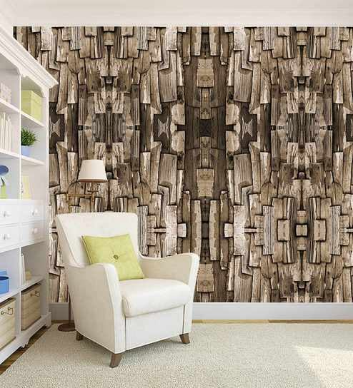 Brown 3d Wood Design Peel And Stick Self Adhesive Wallpaper By 100yellow