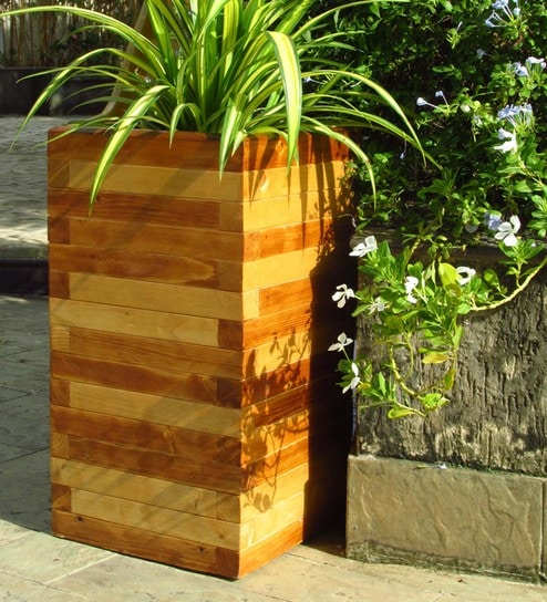 Buy Brown Block Design Handmade Tall Box Wooden Planter by Point of on wooden bollards, wooden bookends, wooden plows, wooden pedestals, wooden decking, wooden bird houses, wooden troughs, wooden home, wooden garden, wooden trellis, wooden toys, wooden arbors, wooden bird feeders, wooden rakes, wooden greenhouses, wooden plates, wooden bells, wooden benches, wooden chairs, wooden pavers,