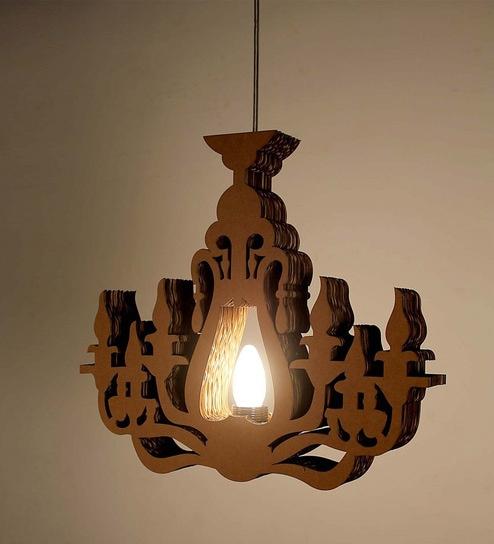 Buy brown corrugated cardboard chandelier chandelier by sylvn studio brown corrugated board chandelier by sylvn studio aloadofball Choice Image