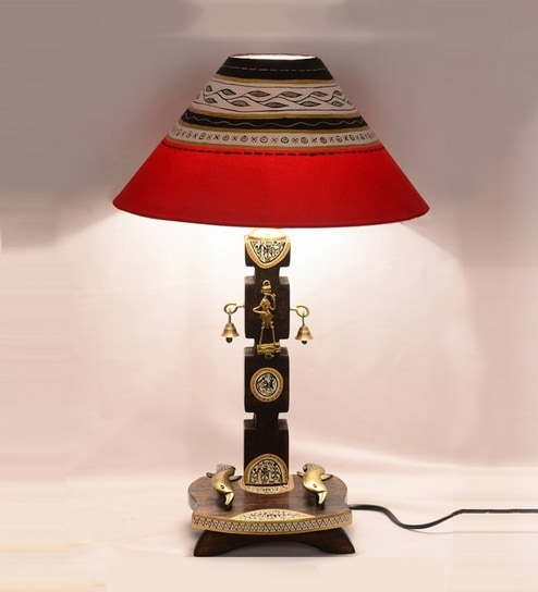 Buy brown dhokra warli table lamp by exclusivelane online indian brown dhokra warli table lamp by exclusivelane mozeypictures Gallery