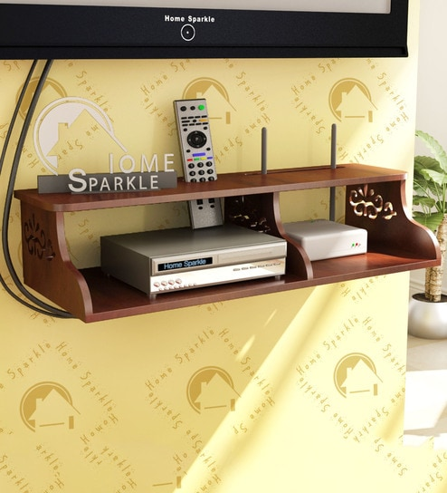 Buy Wall Mountable Set Top Box Cum Wi Fi Router Holder In