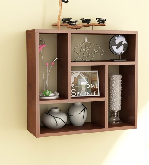 Buy Engineered Wood Wall Shelf In Brown Colour By Home Sparkle Online Modern Wall Shelves Wall Shelves Home Decor Pepperfry Product