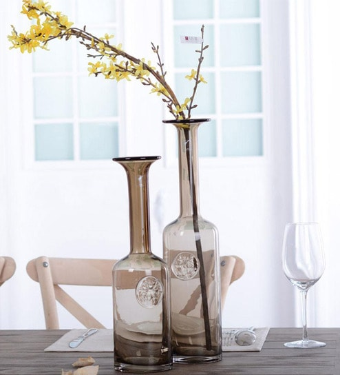 Buy Brown Glass Vase By Casamotion Online Glass Vases Vases