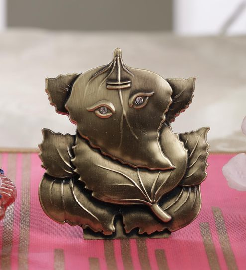 Brown Marble Patta Ganesh Idol by Gallery99